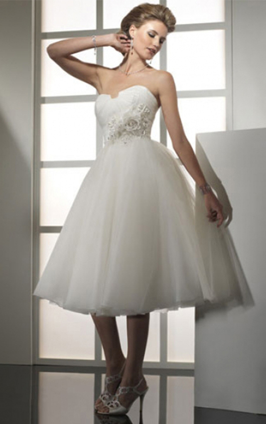 Ball-Gown-Skirt-Strapless-Ivory-Tulle-Skirt-Short-Knee-length-Wedding-Dresses-21444