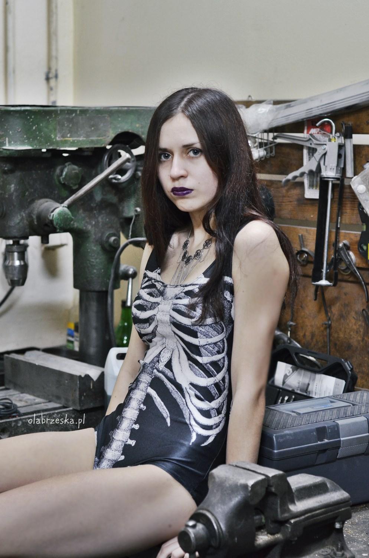strój kąpielowy kościotrup szkielet