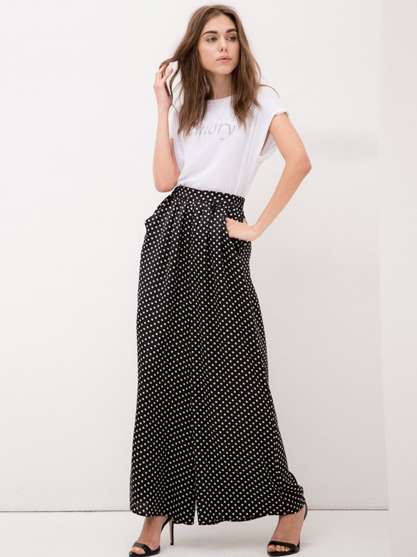 szerokie spodnie dresslink