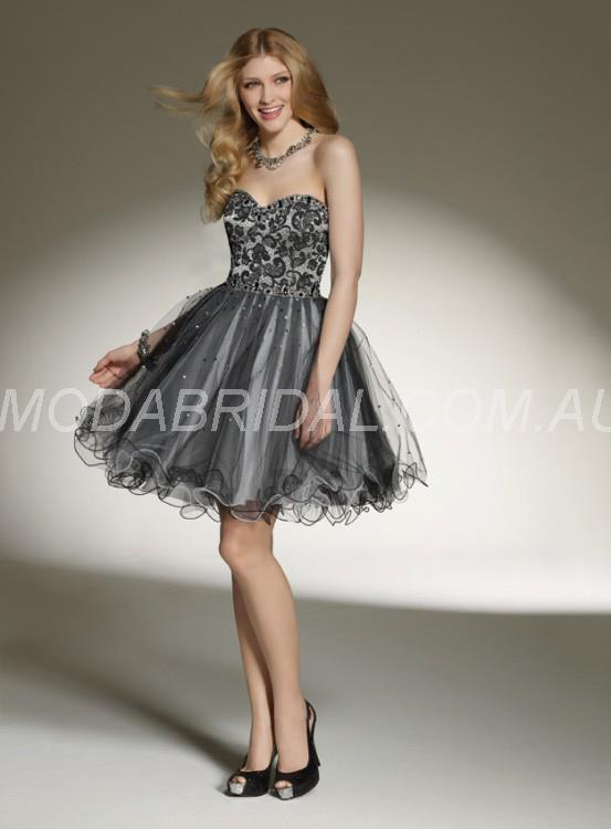 Sweetheart Unique A Line Silver Short/Mini Prom Dress Canberra (11010337)