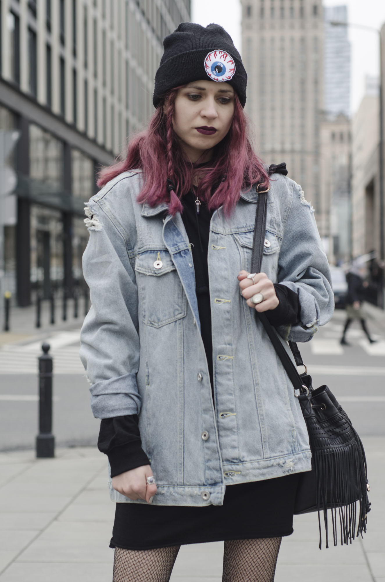 denim jacket grunge outfit
