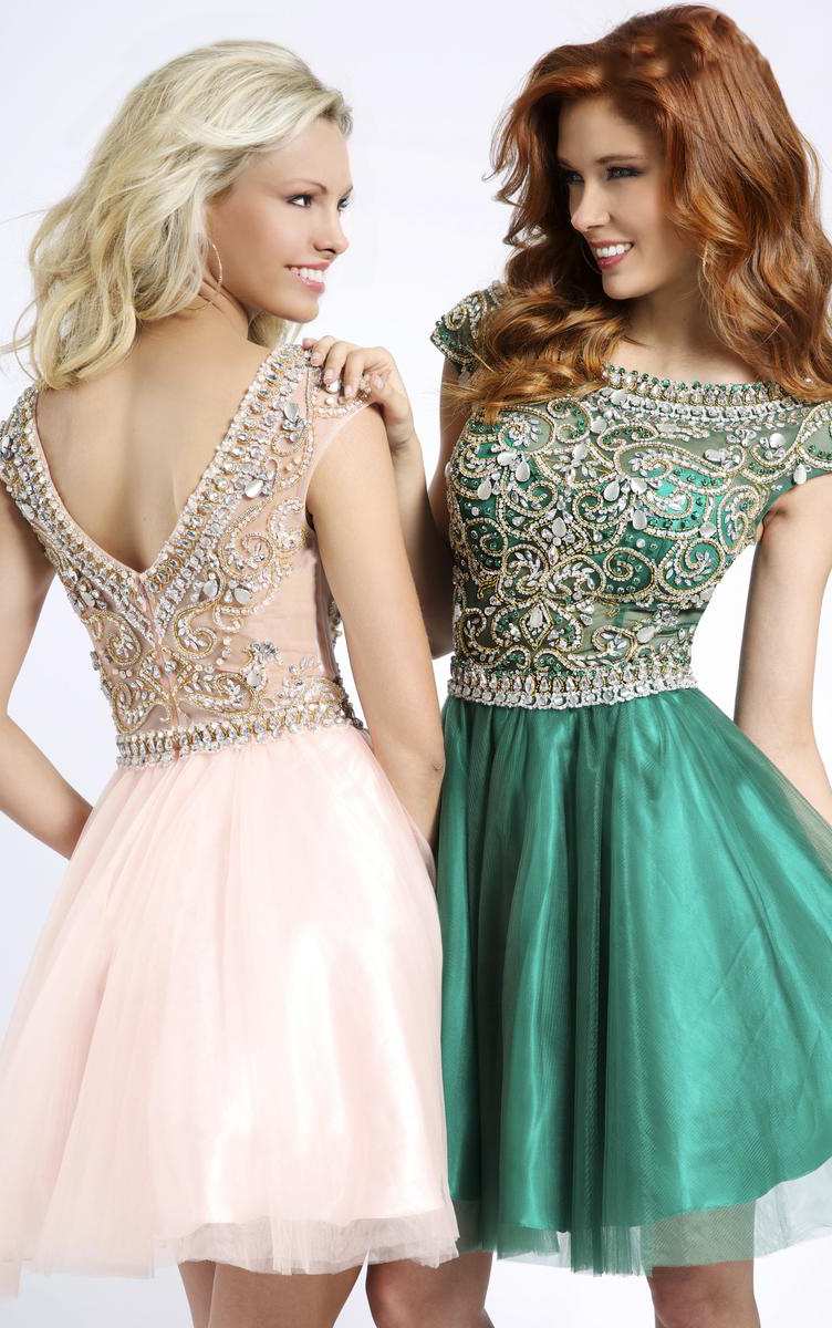 Shimmering-A-line-Tulle-Short-Prom-Dresses-3510-1