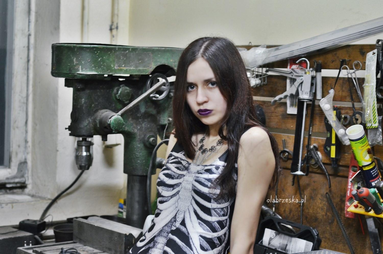 kostium kąpielowy kościotrup szkielet