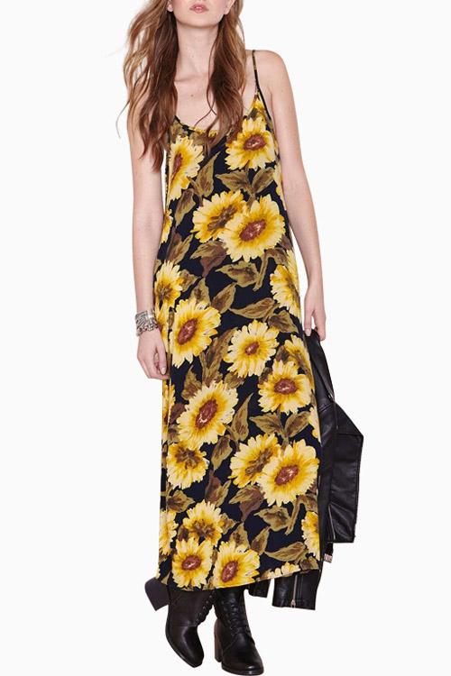 Kwiecista sukienka do kostek