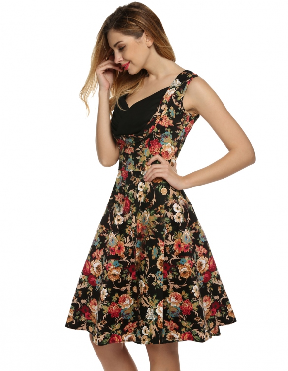 sukienka w kwiaty dresslink