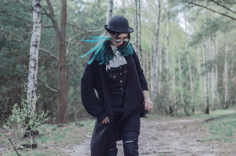niebieskie włosy czym farbować