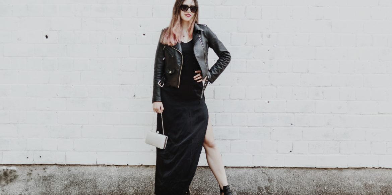 Czarna stylizacja nie musi być nudna! Klasyczna sukienka jako idealny strój na wesele